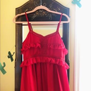NWOT MANGO MAXI DRESS in ROYAL RED